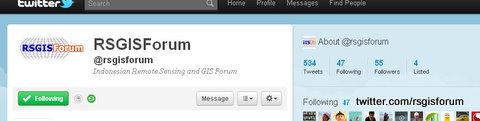 Tweet RSGISForum