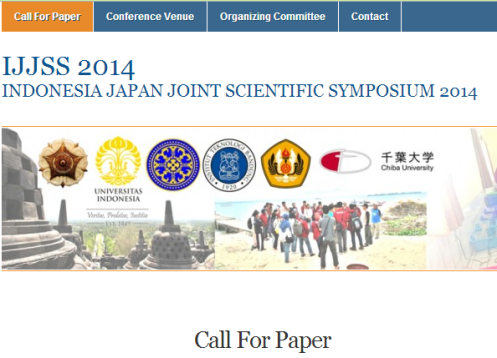 The 6th Indonesia Japan Joint Scientific Symposium (IJJSS 2014)
